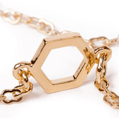 Olwen Classics Hexagon Charm Necklace