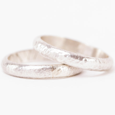 Handmade Hammered Band Rings