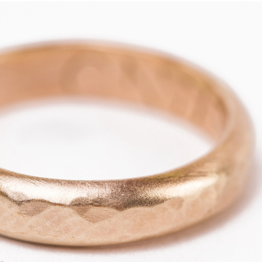 Handmade Thick Hammered Band