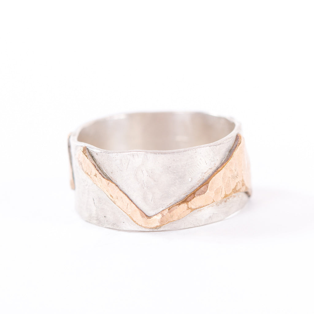 Two Tone Abstract Ring
