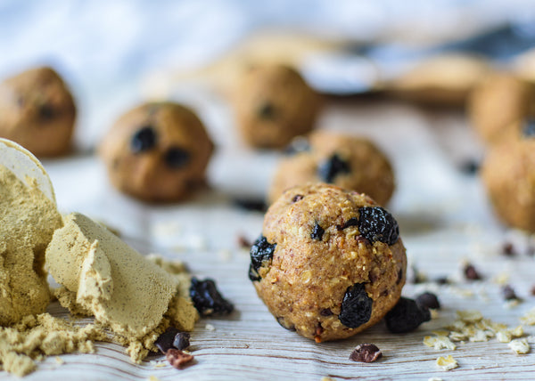 Blueberry Pie Protein Balls