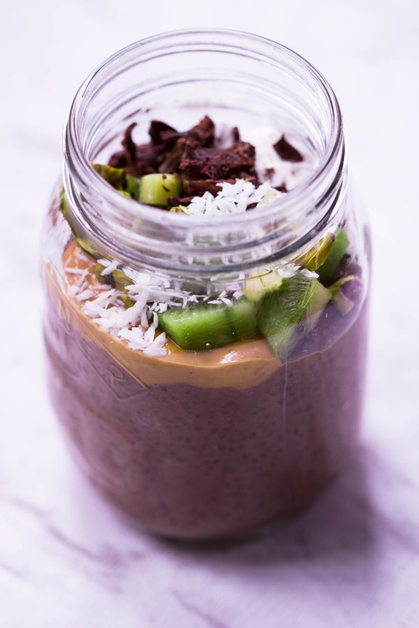Chocolate and Pistachio Chia Pudding