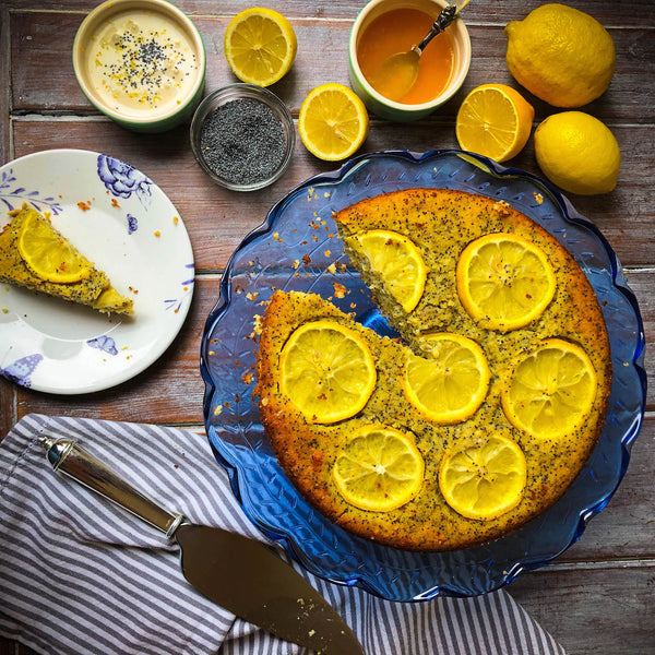 Lemon & Poppy Seed Almond Protein Cake