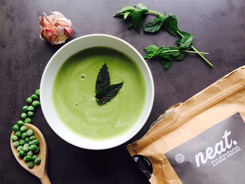 Protein Pea and Mint Soup Recipe | Neat Nutrition. Clean, Simple, No-Nonsense.