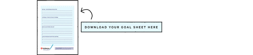 Download Your Goal Sheet Here lululemon | Neat Nutrition. Clean, Simple, No-Nonsense.