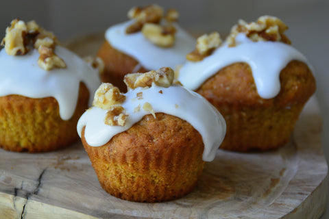 Carrot and Walnut Cupcake Recipe | Neat Nutrition. Clean, Simple, No-Nonsense.