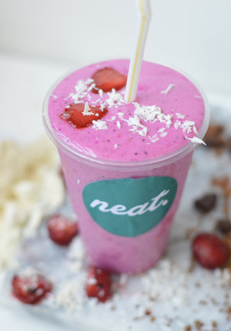 Strawberry Paradise Protein Shake Sweatlife Festival | Neat Nutrition. Clean, Simple, No-Nonsense.