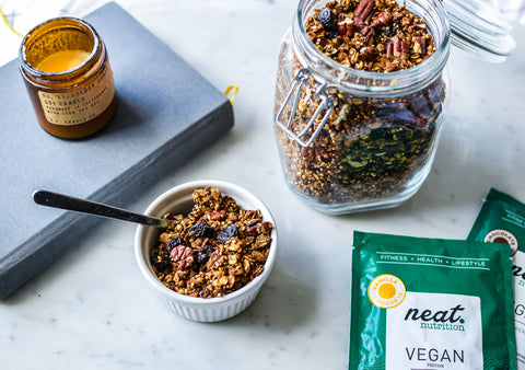 Vegan Protein Quinoa Granola Recipe | Neat Nutrition. Active Nutrition, Reimagined For You.