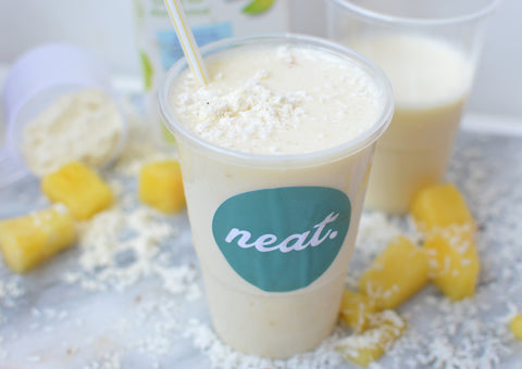 Pina Colada Protein Shake Sweatlife Festival | Neat Nutrition. Clean, Simple, No-Nonsense.