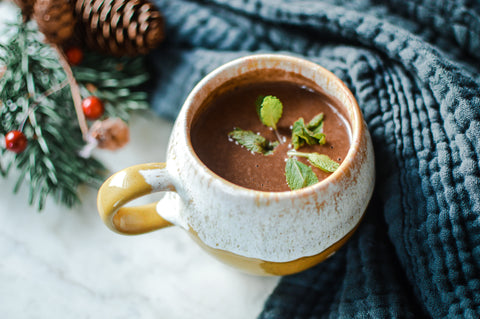 Peppermint Protein Hot Chocolate Recipe | Neat Nutrition. Protein Powder Subscriptions.