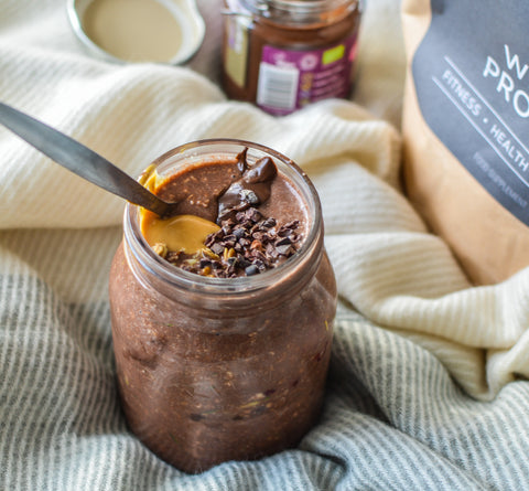 Chocolate Overnight Oats Recipe | Neat Nutrition. Clean, Simple, No-Nonsense Protein.