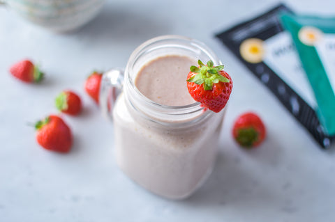 Strawberry Breakfast Protein Smoothie Recipe | Neat Nutrition. Protein Powder Subscriptions.