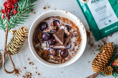 Chocolate Cherry Oats Recipe | Neat Nutrition. Clean, Simple, No-Nonsense Protein.