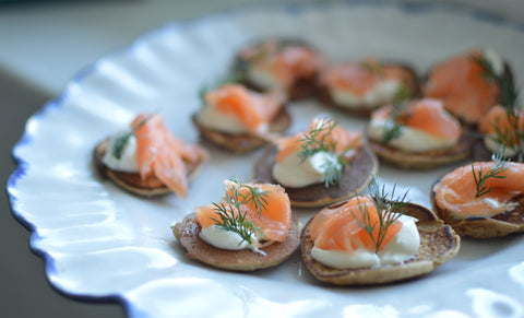 Smoked Salmon Blinis at Soho Farmhouse | Neat Nutrition. Clean, Simple, No-Nonsense.