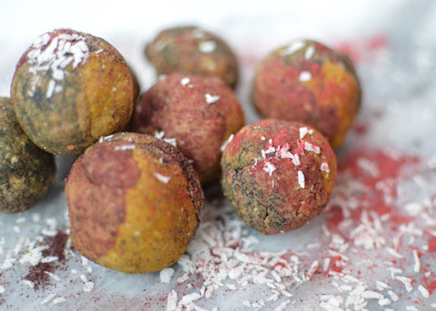 Rainbow Coloured Protein Balls Recipe | Neat Nutrition. Clean, Simple, No-Nonsense.