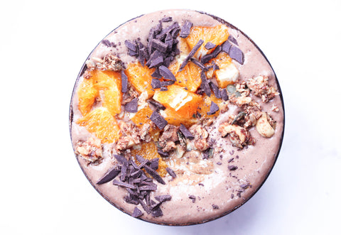 Chocolate Orange Smoothie Bowl Recipe | Neat Nutrition. Clean, Simple, No-Nonsense Protein.
