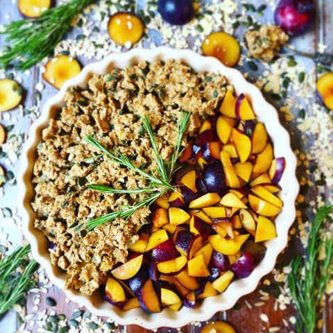 Rosemary & Plum Crumble Recipe | Neat Nutrition. Clean, Simple, No-Nonsense.
