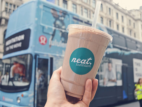 Neat Shakes at the Meditation Bus: Summer Streets Regent St | Neat Nutrition. Clean, Simple, No-Nonsense.