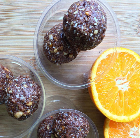 Cacao and Orange Protein Balls: Nourish Kitchen at The Neat Cafe | Neat Nutrition. Clean, Simple, No-Nonsense.