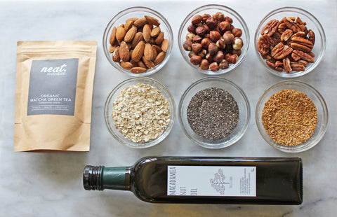 Matcha Granola Ingredients | Neat Nutrition. Clean, Simple, No-Nonsense.