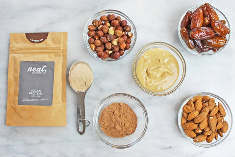 Protein bar ingredients  | Neat Nutrition. Clean, Simple, No-Nonsense.