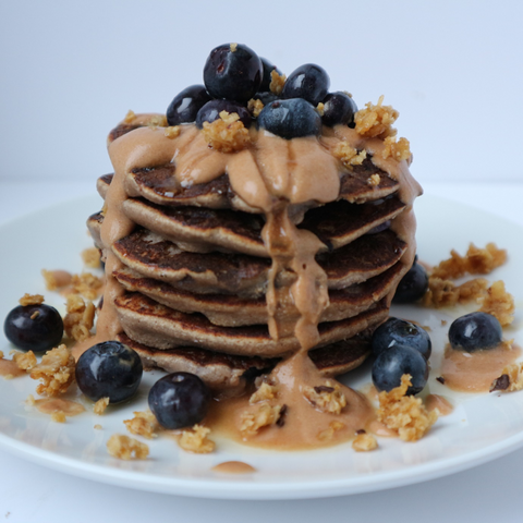 Blueberry Flapjack Pancake Stack Recipe | Neat Nutrition. Clean, Simple, No-Nonsense.