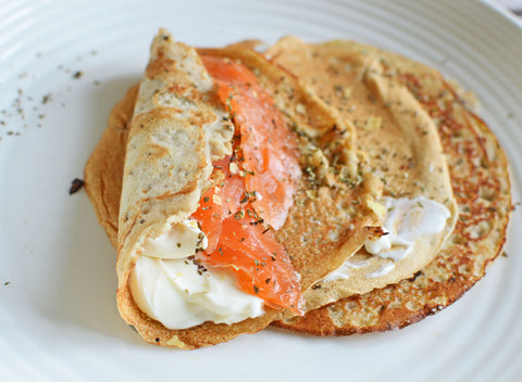 Savoury Buckwheat Protein Crepes Recipe | Neat Nutrition. Clean, Simple, No-Nonsense.
