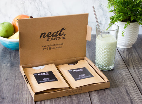 Customisable Sample Box | Neat Nutrition. Clean, Simple, No-Nonsense.