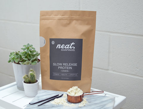 Slow Release Vanilla Protein | Neat Nutrition. Clean, Simple, No-Nonsense.
