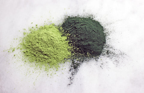 Spirulina and Wheatgrass