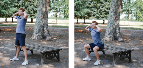 Chair Squat Form Guide | Neat Nutrition. Clean, Simple, No-Nonsense Protein.
