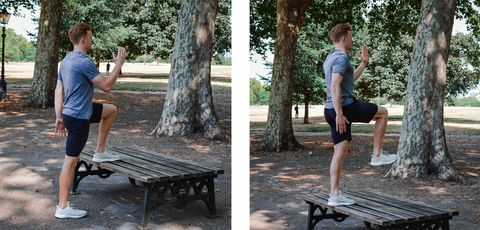 Chair or Bench Step Up Form Guide | Neat Nutrition. Clean, Simple, No-Nonsense Protein.