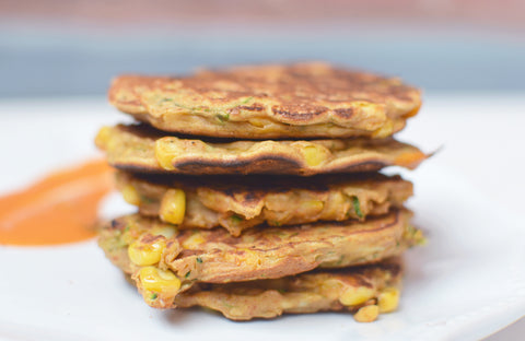 Sweetcorn and Corguette Fritter Recipe | Neat Nutrition. Clean, Simple, No-Nonsense.