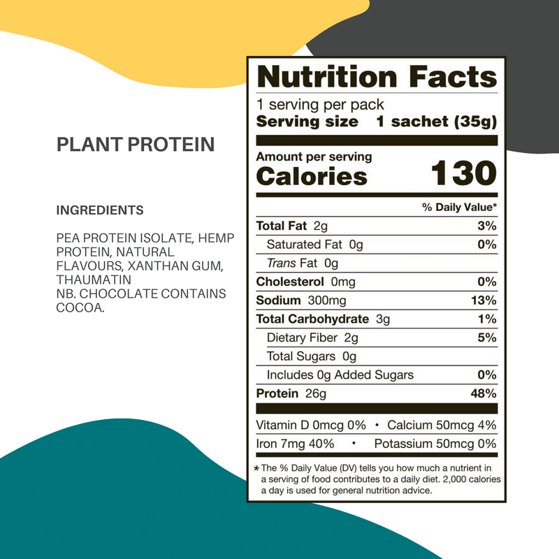 Plant Protein Postable Sachets (12 sachets)