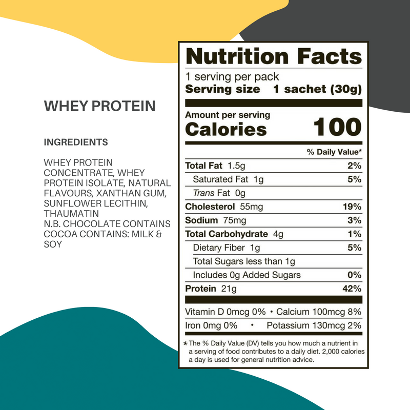 Whey Protein Postable Sachets (12 sachets)
