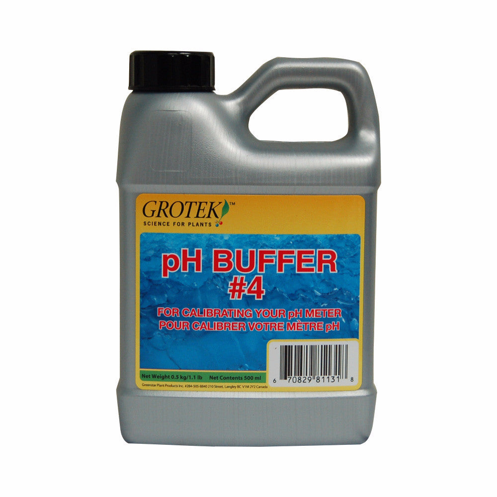 Grotek PH Buffer 4 500 ml - Garden Effects -Indoor and outdoor Garden Supply