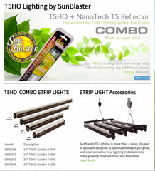 Sunblaster T5 HO Combo Fixture With Nano Tech Reflector - Garden Effects -Indoor and outdoor Garden Supply