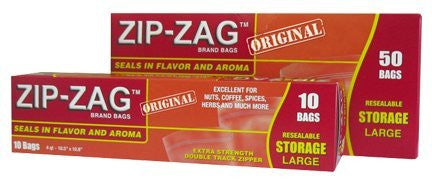 ZIP ZAG Leak-proof Resealable Bags