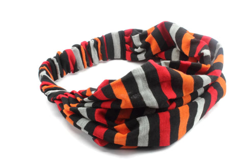 Multi Color Strips Striped Headband, Headwrap Headband