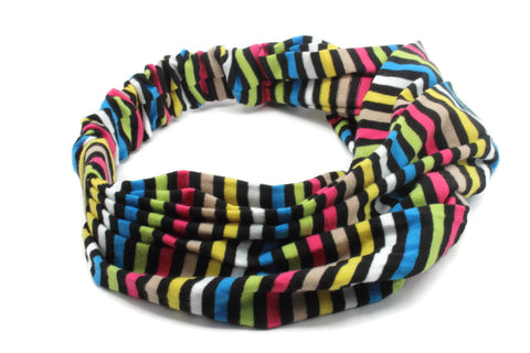 Multi Color Thin Strips Striped Headband