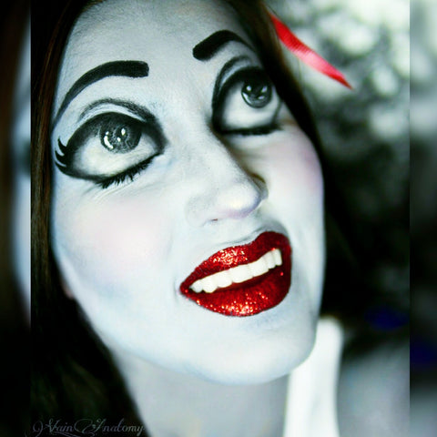 Snow White Makeup Closeup