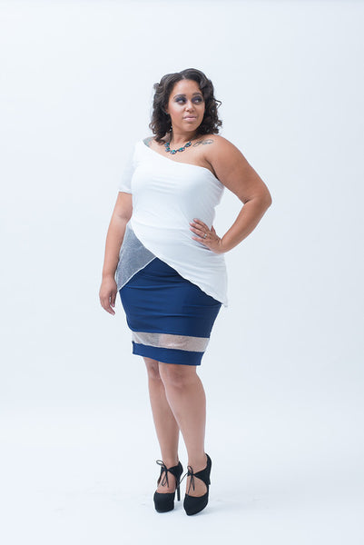 Anchor Me Down Pencil Skirt