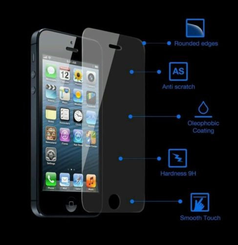 Glass Screen Protector For iPhone 5/5S, Screen Protectors- WorldWide Accessories