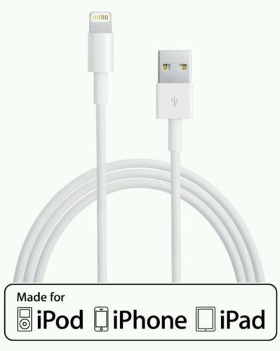 6ft Apple Certified MFI Lightning USB Sync Charger Cable iPhone 5/5S/5C/6/6 Plus, Cables & Adapters- WorldWide Accessories