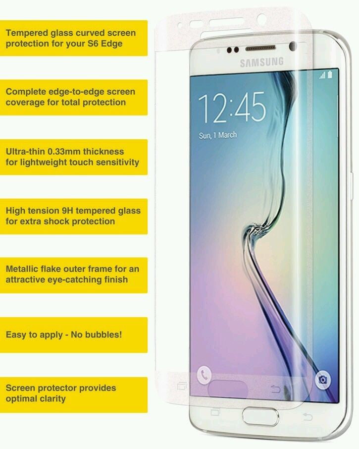 THICK GLASS SCREEN PROTECTOR For GALAXY S6 EDGE PLUS, Screen Protectors- WorldWide Accessories
