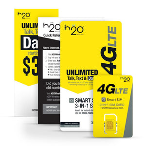 H2O 3-in-1 SIM Card, Sim Card- WorldWide Accessories