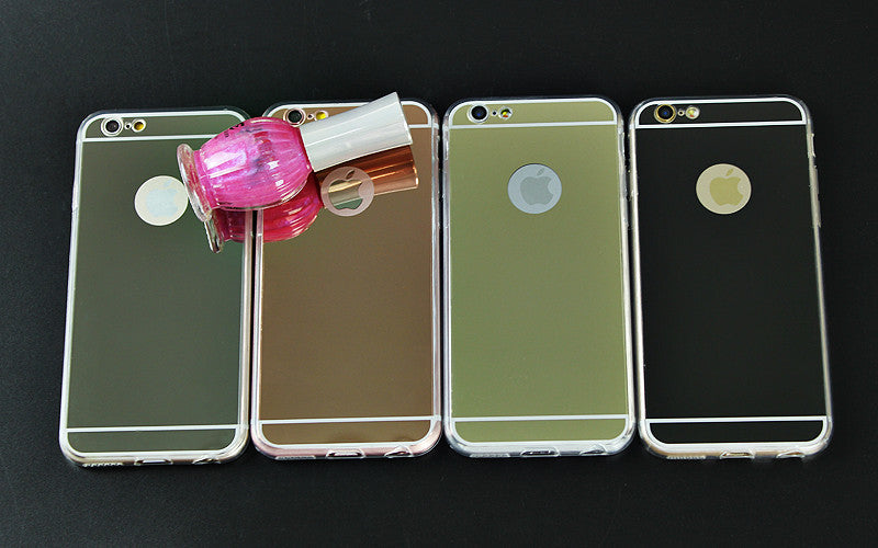Luxury Mirror Electroplating Soft Clear TPU Cases For iPhone, Cases, Covers & Skins- WorldWide Accessories