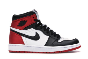 Jordan 1 Mens Retro High Satin Black Toe