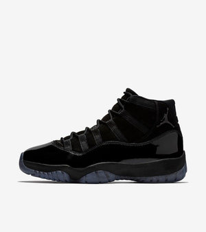 "Jordan 11 Retro ""Cap and Gown"" Triple Black Men's"