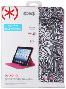Speck FitFolio Case For iPad 2 3 4 Fresh Bloom Pink/Black, Cases, Covers, Keyboard Folios- WorldWide Accessories